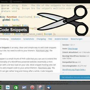 Code Snippets @eigenes Screenshot