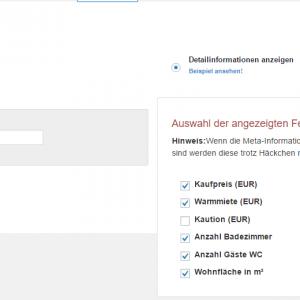 WP Immo Manager -Listenansicht screenshot